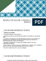Modelo de Solow - O Modelo Básico