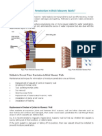 How to Prevent Water Penetration in Brick Masonry Walls