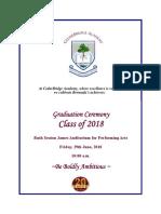 CBA Graduation Program Bermuda June 29 2018