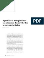 APRENDER A DESAPRENDER LAS CÁMARAS DE MÓVIL Y LOS ARCHIVOS DIGITALES