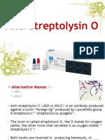 Anti Streptolysin O