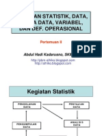 Kegiatan Statistik Data Variabel DO PERTEMUAN II