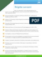 CV de Brígida Lanzani