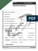 Ficha Informativo Del Estudiante