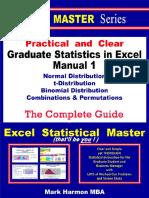 Graduate Statistics in Excel Manual 1 S