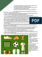 Implementos en Una Cancha de Futbol