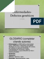 Gen+®tica -Enfermedades- Defectos gen+®ticos