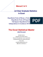Graduate Statistics in Excel Manual 2 S