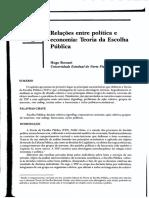 Relações entre política e economia, Teoria da Escolha Pública - Hugo Borsani (artigo).pdf