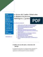 Cambio Global y Cuencas