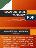 Human Cultural Variations