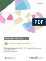 'Balanza de pagos, posición desinversión internacional y deuda externa