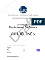 Infrastructure Risk Management Plan Template Guidelines
