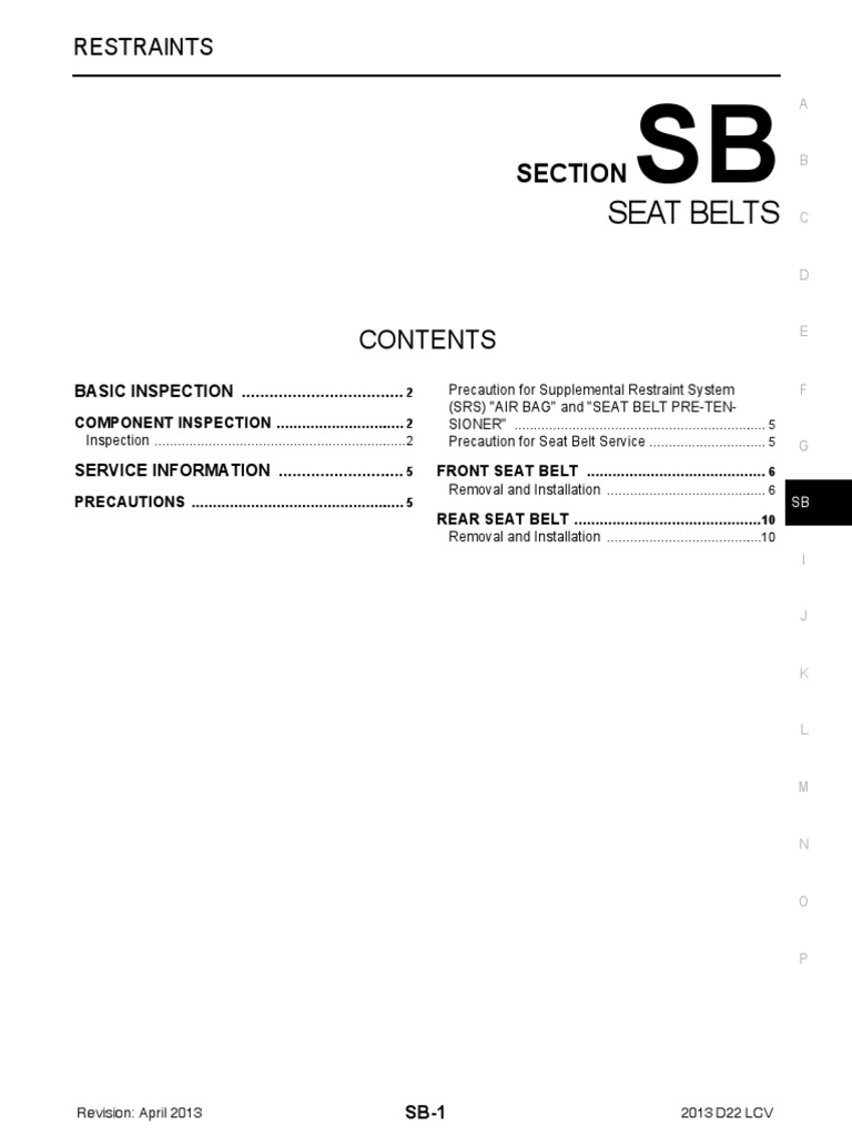 Nissan Rogue Service Manual: SRS Airbag Control System