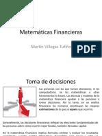Matemáticas Financieras 1RA PARTE
