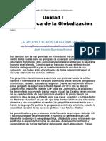 Unidad I G III Geopolitica Dxe La Globalización