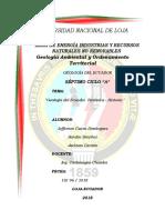 Informe Tectonica Historia Geologia Del Ecuador Completo