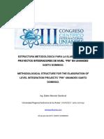 Proyecto Integrador Estructura Metodológica Para La Elaboración de Proyectos Integradores.