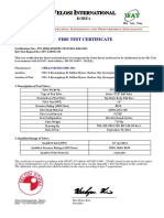 Fire Test Cert - Top Entry Ball - Velosi