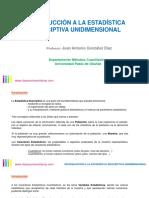 introduccinalaestadsticadescriptivaunidimensional-160704164207