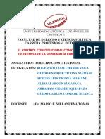 El Control Contitucional Como Mecanism de Defensa de La Supremacia Constitucional