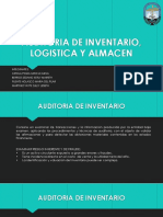 Auditoria de Inventario, Logistica y Almacen