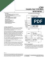 AD7837_Complete, Dual 12-Bit MDACs