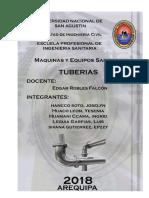 UNSA 2018 Maquinas y Equipos Sanitarios Tuberias