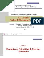 EE354 - Clase 1P1 - Introducción a Dinámica de Sistemas de Potencia 2017-II