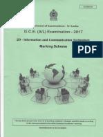 AL ICT Marking Scheme 2017