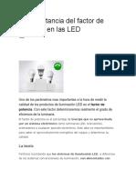 La Importancia Del Factor de Potencia en Las LED