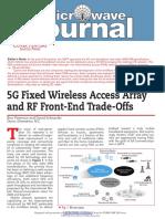5g Fixed Wireless Access Array Rffe Tradeoffs Mwj Feb2018