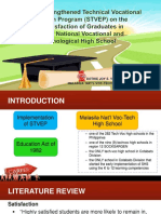 Impact of Strengthened Technical Vocational Education Program (STVEP)