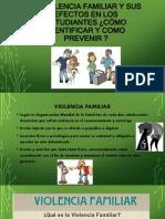 Consecuencias Socioemocionales de La Violencia Familiar en La