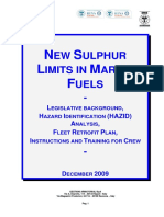 New Sulphur Limits in Marine Fuels