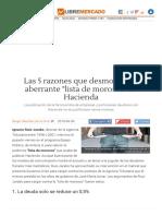 Las 5 Razones Que Desmontan La Aberrante _lista de Morosos_ de Hacienda - Libre Mercado