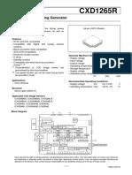 CXD1265_CCD Camera Timing Generator