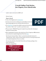ALLEN AIIMS 2018 Online Test Series, Sample Practice Papers, Free Mock Tests