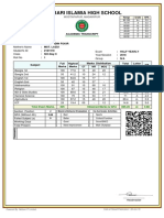 SIX  C Mark Sheet