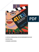 41 Festival Internacional de Cine Independiente de Elche. Sección Oficial Autor Novel