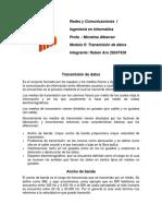 Redes 1 Taller y Trabajo Modulo II PRMERA PARTE