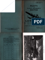 Pilot's and Flight Engineer's Notes - Lancaster