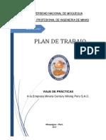 Modelo Plan de Trabajo Del Viaje