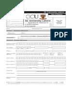 Admission Form Phd 2018