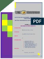Corte Directo- Informe 8
