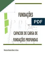 Capacidade Carga Fund Profundas