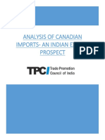 Analysis of Canadian Imports an Indias Export Prospect