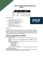 Configuración de la administración básica del switch