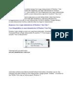 Login Administrator Di Windows 7 Dan Vista