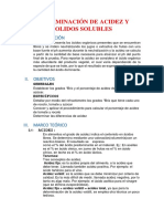 Determinacion de Acidez y Solidos Solubles